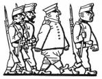 Бравый солдат Швейк под конвоем. Автор: Йозеф Лада